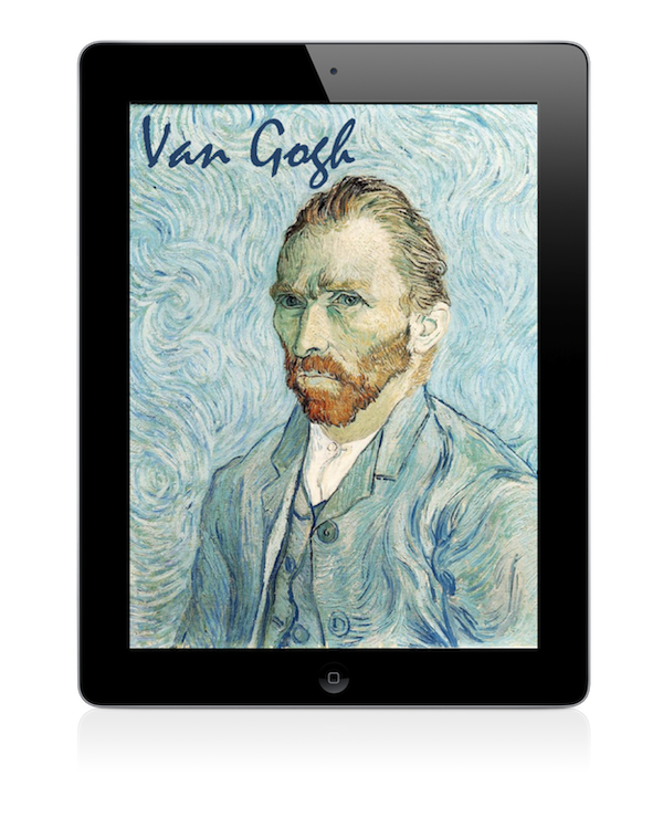 iPad showcasing a screenshot of the Van Gogh app.